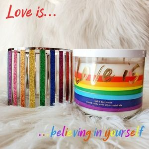 Pride Candle Set in Champagne Toast